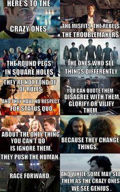 <3 <3 Star Trek, Star Wars, The Avengers, Teen Wolf, The Hunger Games, Supernatural, Harry Potter, The Hobbit, Doctor Who, Sherlock