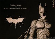 Graphite Art - Lee Bourke - Batman, dark knight