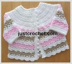simple crochet baby jacket pattern - Google Search