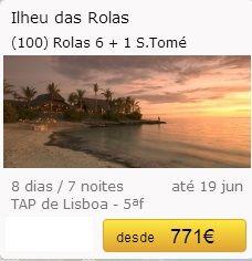 São Tomé - Ilheu das Rolas €771