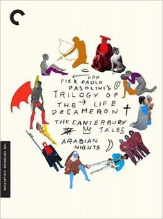 From director Pier Paolo Pasolini comes Trilogy of Life: The Decameron, The Canterbury Tales, Arabian Nights new on DVD from The Criterion Collection Graphisches Design, Buch Design, Print Design, The Decameron, The Criterion Collection, Canterbury Tales, Arabian Nights, Grafik Design, Graphic Design Typography