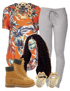 """""""."""" by trillest-queen ❤ liked on Polyvore featuring Topshop, Forever 21, Michael Kors and Timberland"""
