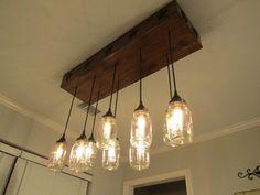 Lighting Mason Jar Chandelier Rectangle by OutoftheWdworkDesign