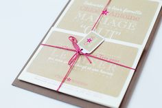 your beautiful days: Faire-part de mariage Letterpress Kraft