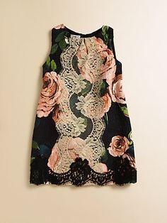 Dolce & Gabbana - Toddler's & Little Girl's Floral Brocade Pinafore Dress - Saks.com