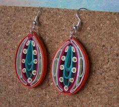 cool earrings, looks like quilling