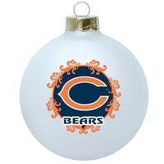 Chicago Bears Large Collectible Glass Ornament by Topperscot $9.95