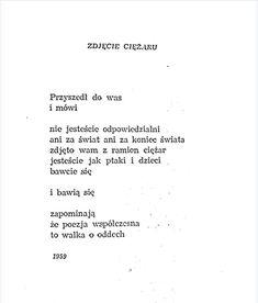 Tadeusz Różewicz Poetry Poem, Quotation, Sherlock, Poems, Lyrics, Letters, Fancy, Thoughts, Feelings