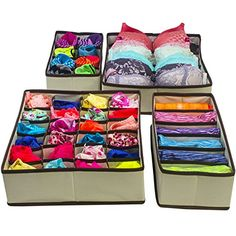 #Storage The Closet Divider underwear Organizer- is #made of high quality non-woven fabric, it is soft and #light-weight but durable. The storage box is able to m...