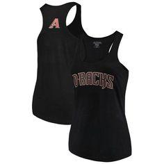 Arizona Diamondbacks Soft as a Grape Women's Plus Size Swing for the Fences Racerback Tank Top - Black - $31.99