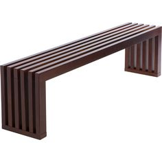 Walnut Finish 60-inch Slat Bench | Overstock.com Shopping - The Best Deals on Benches