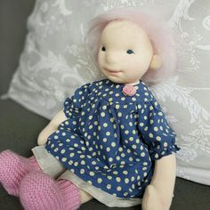 Pink haired girl by Lucy Lou Dolls