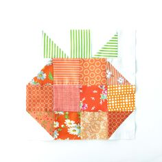 Quilt Block of the Month-The HST Pumpkin Quilt Block - Simple Simon and Company