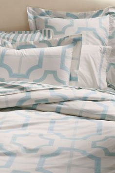 Geometric Watercolor Organic Cotton Duvet Cover | Sham from Lands' End