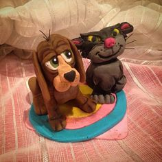 """""""I've made lusifer and bruno from cinderella - made with sugarpaste"""