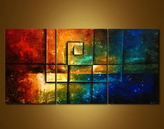Original abstract art paintings by Osnat - 1 geometrical painting