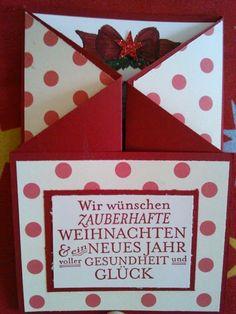 Weihnachtskarte in Torform