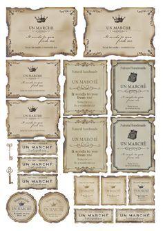 オリジナルハンドメイドスタンプや輸入マスキングテープと雑貨などを扱う通販ショップです!全てお求めやすい価格です。 Tin Can Crafts, Diy And Crafts, Paper Crafts, Vintage Labels, Vintage Ephemera, Vasos Vintage, Printable Labels, Printables, Collages D'images