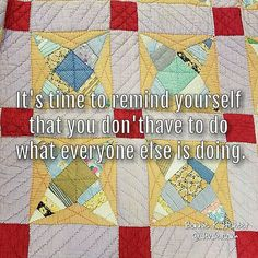 It's okay to go your own direction, even when others don't understand it! Vintage string quilt found in North Carolina. #beyourself #beyou . . #quilt #quilting #patchwork #quiltville #bonniekhunter #vintagequilt #antiquequilt #deepthoughts #wisewords #wordsofwisdom #quiltvillequote #quote #inspiration