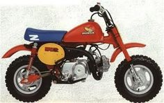"""Replaced the original """"Monkey Bike"""" and became a legend in its own right. Absolutely loved these when I was a kid, I wanted one so bad! This one is an earlier colour scheme/style, with the steel tank no less. Bmx, Motocross, Mini Motorbike, Bike Pic, Minibike, Dirtbikes, Super Bikes, Vintage Bikes, Cool Bikes"""