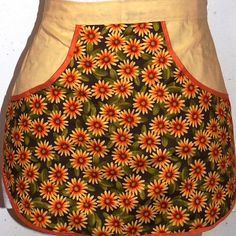 Velma - Clothespin apron, retro apron, handmade apron, floral apron, apron, half apron, gathering apron, harvest apron, farm apron, Our Clothespin apron, ties around your waist, Your clothespins are easy to reach in the large deep pocket, opens on both sides. They can be used as an