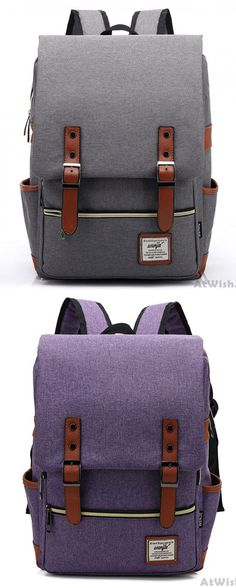Cheap Retro Large Travel Backpack Leisure Leather Canvas Backpack School Bag  For Big Sale! ec4546836f