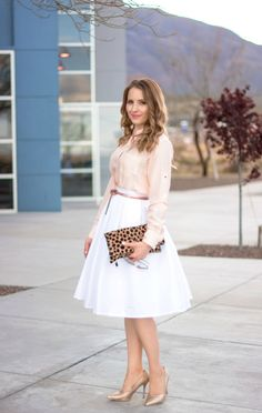 Glamour-Zine Pleated Skirt
