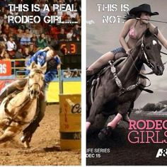 I admit I watched the 1st episode of Rodeo Girls...the next day I ended up emailing A&E with how disgusted I was. HORRIBLE HORRIBLE interpretation of rodeo and barrel racing.