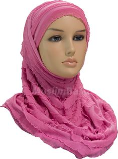 Two Piece Hijab - Drapes - Pink http://www.muslimbase.com/clothing/hijabs/two-piece-hijab/piece-hijab-drapes-pink-p-7953.html