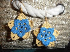 crochet earings, love this pattern  https://www.facebook.com/pages/Jude-Handmade/216830615147075