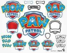 Check out our paw patrol clipart selection for the very best in unique or custom, handmade pieces from our shops. Paw Patrol Birthday Theme, Paw Patrol Party, Paw Patrol Clipart, Paw Patrol Decorations, Cumple Paw Patrol, Birthday Boy Shirts, Mermaid Birthday, 2nd Birthday, Silhouette Cameo Projects