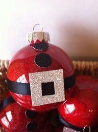 homemade santa ornaments - Google Search