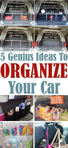 DIY Home Sweet Home: 5 Ideas To Organize Your Car