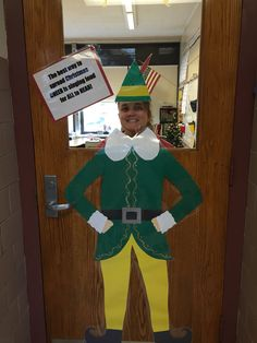 Buddy the Elf classroom door