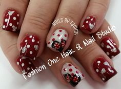 Minnie mouse nails #nailsbytammy #minniemouse