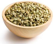 Green Coffee Beans in a Bowl