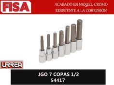 JGO 7 COPAS 1/2 54417. Acabado en niquel-cromo resistente a la corrosión- FERRETERIA INDUSTRIAL -FISA S.A.S Carrera 25 # 17 - 64 Teléfono: 201 05 55 www.fisa.com.co/ Twitter:@FISA_Colombia Facebook: Ferreteria Industrial FISA Colombia |
