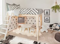 It's now turn for Hanes' big boy room reveal! I was so excited about this bed because I knew Hanes would love being able to have a fun litt...