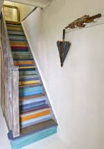 Painted Stairs using Annie Sloan Chalk Paint.