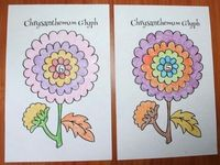 """Chrysanthemum activities: """"Getting To Know You!"""" Back To School Chrysanthemum Flower Glyph. Quick, easy & fun way for new students to learn about their classmates, while you assess listening & following directions. Display for a cute BTS bulletin board!"""