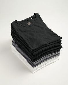 rag & bone Official Store, Basic Tee - Flame Cotton, black sp, Mens : Standard Issue, M000T046G