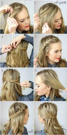 8 Beyond Easy 5 Minute Hairstyles for Those Crazy Busy Mornings – Half Crown Braid
