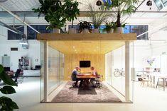 Loft office interior meeting area