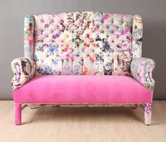 Hey, I found this really awesome Etsy listing at https://www.etsy.com/listing/230335333/pink-candy-wing-patchwork-sofa