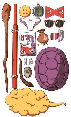 Master Roshi´s accessories #dbz