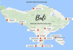Bali Map - Where to stay in Bali #BaliDestination