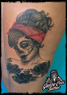 pin up sugar skull tattoo - Google Search