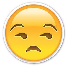 Unamused Face   EmojiStickers.com
