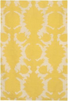 "7' 9"" x 10' 6"" (8x11) Modern/Contemporary Rug Yellow Abstract 100% Wool Carpet"