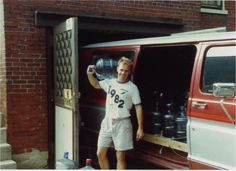 In celebration of our 25th anniversary... This is our co-founder, Bryan Shinn, delivering water out of the companies first van. #bottledwater
